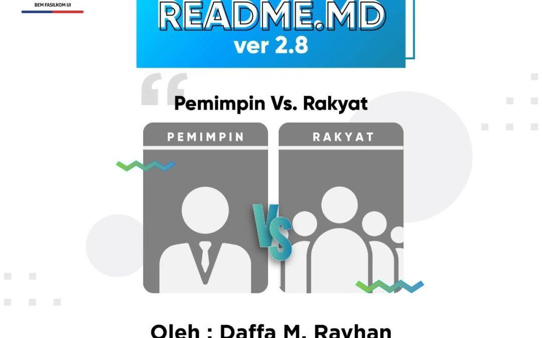 #READMEdotMD ver 2.8 :  Pemimpin VS Rakyat