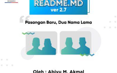 #READMEdotMD ver 2.7 : Pasangan Baru Dua Nama Lama