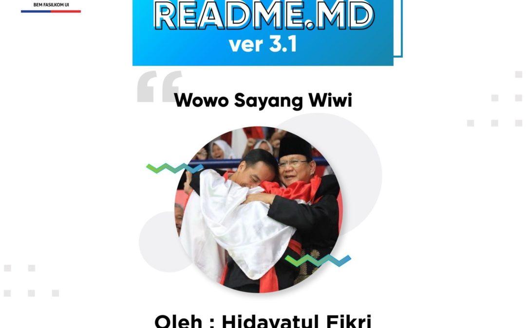#READMEdotMD ver 3.1 : #WowoSayangWiwi