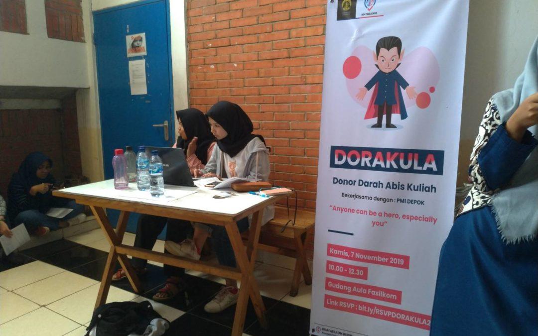 Dorakula: Donor Darah Abis Kuliah Kembali Diselenggarakan